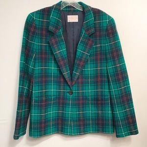 Pendleton • Women's Petite Wool Plaid Blazer Sz S
